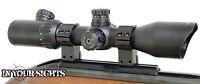 3-12x42 Rimfire Riflescope/ Illuminated Reticle Shockproof Rifle Scope + Mounts