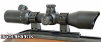 3-12x42 Rimfire Riflescope/ Illuminated Reticle Shockproof Rifle Scope + Mounts