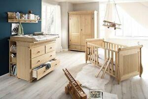 das bild wird geladen massivholz babyzimmer set 8teilig komplett kiefer honig antik