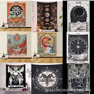 Mixtas Estilo Tapiz Colgante De Pared Sol y la Luna Tarot Tarjeta Estrella Decoración Hogar