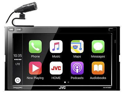 "JVC KW-M740BT 6.8"" 2-Din Car Media Receiver w/Apple CarPlay/Android Auto/Weblink"