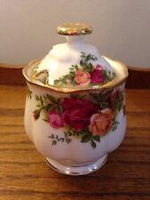 Royal Albert Old Country Roses China Jam Jelly Marmalade Preserves Jar w/ Lid