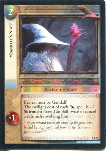 Lord Of The Rings CCG Foil Card MoM 2.C22 Gandalf/'s Staff