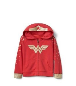 9a44dcc8a NWT Baby Gap Red Gold Wonder Woman Justice League Zipper Hoodie ...