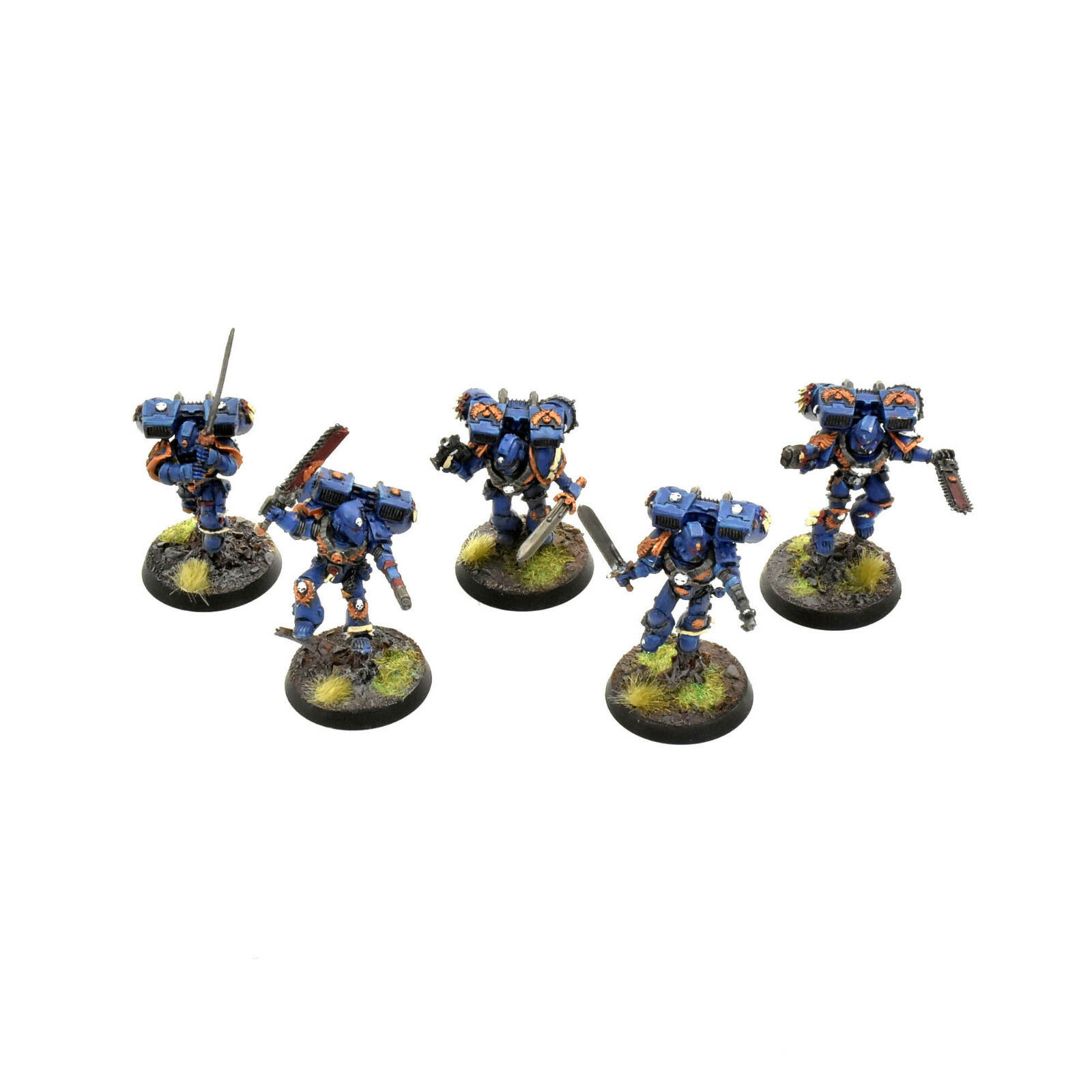 SPACE MARINES 5 vanguard veteran squad METAL WELL PAINTED 40K ULTRAMARINES