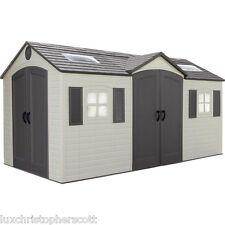 Garden Sheds 4 X 8 lifetime storage sheds 15 x 8 dual entry shed | ebay
