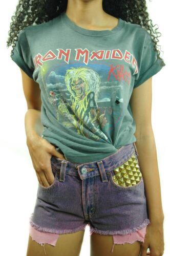 Vintage IRON MAIDEN Shirt  1981 KILLERS  Concert s