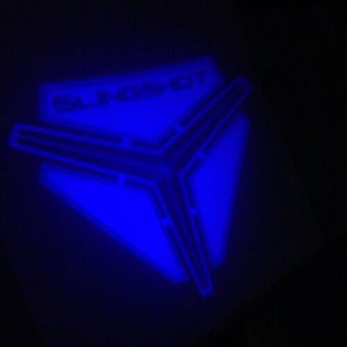 POLARIS SLINGSHOT LOGO LED LIGHT projection light shines image onto ground BLUE