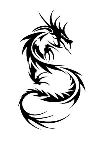 high detail airbrush stencil chinese dragon FREE UK POSTAGE