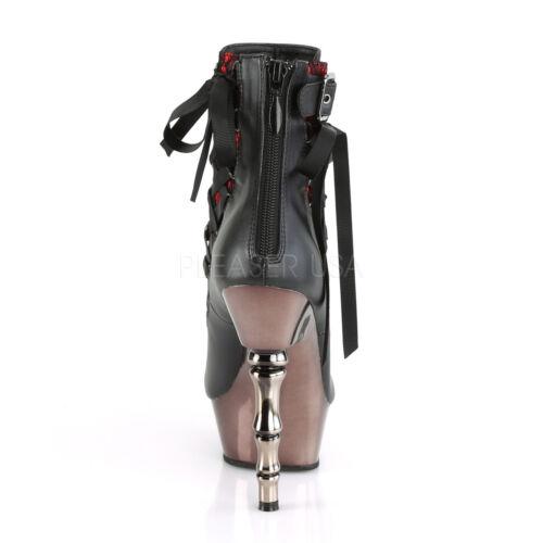 Demonia MUERTO-900 MUERTO-1001 MUERTO-1030 Womens Platform Moto Ankle Boot