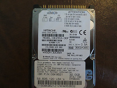 Hitachi DK23CA-30F 30GB 2.5in Drive Tested Good Free USA Ship Our Drives Work
