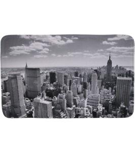 BADTEPPICH BADVORLEGER BADEMATTE BADETEPPICH BADEZIMMERTEPPICH SKYLINE NEW YORK