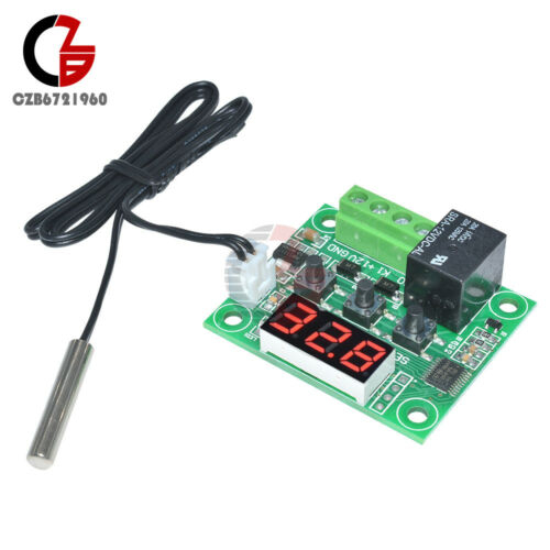 W1209 -50-110°C DC 12V Red LED Digital Thermostat Temperature Controller Sensor