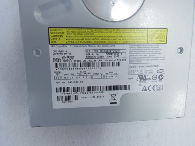 NEC ND-3530A CD/DVD RW Optical Disk Drive IDE 50-4