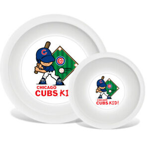 Chicago-Cubs-MLB-Ninos-Placa-y-Cuenco-Set-Bpa-Libre