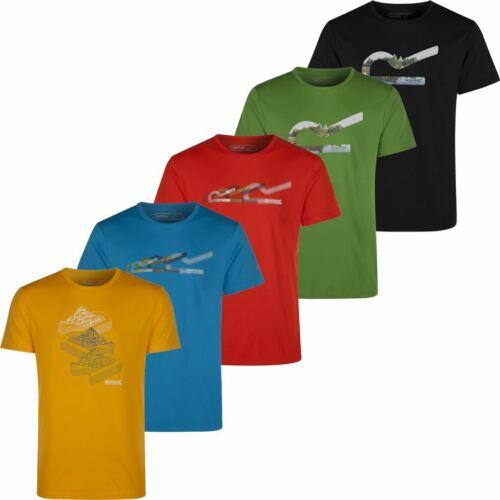 Regatta gruta Entrenamiento Manga Corta Camiseta Hombres Deportes Camiseta 60/% De Descuento