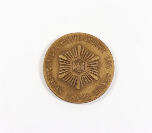 1923 Medaille aus Bronze vom Sportfest der Polizeigruppe Süd-Berlin E2