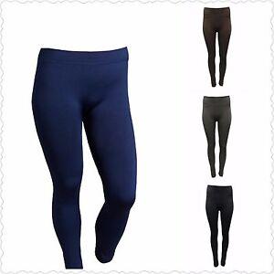 081838119 Details about Icon Apparel Women's Size M/L Blue Black Brown Grey Fleece  Lined Leggings NEW