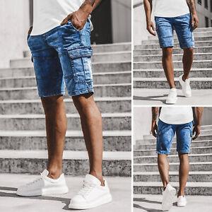 Details zu Kurzhose Shorts Kurze Jeans Bermuda Classic Casual Hosen Herren OZONEE 13486 MIX