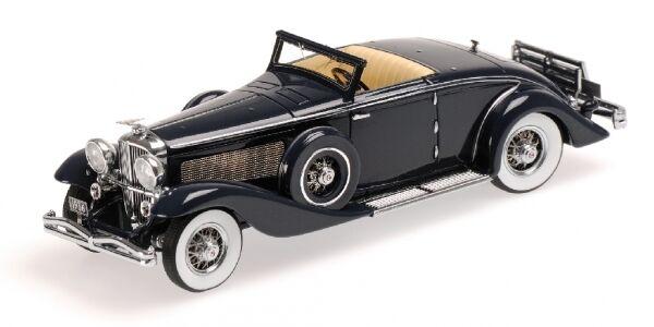 Sjn duesenberg ein cabrio coupé  1936 dunkelblau 1 43 modell