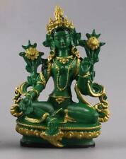 Feng Shui Tibet Tibetan Buddhism Statue  Green Tara Buddha 13.5cm