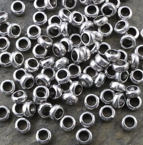 BC20-Perlen-7-mm-Silber-Verbindungsringe-Spacer-Beads-30x-Beads-Schmuck-Ring