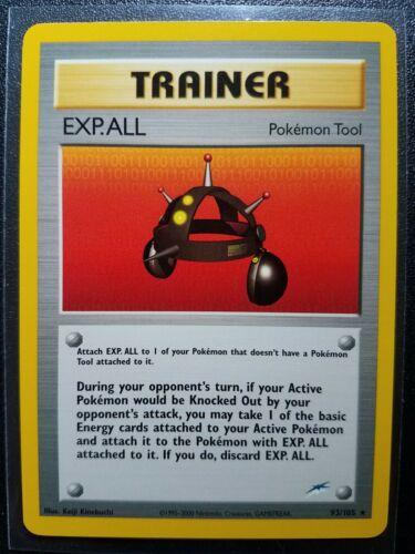 Pokemon Neo Destiny EXP All Trainer Rare 93//105 NEAR MINT