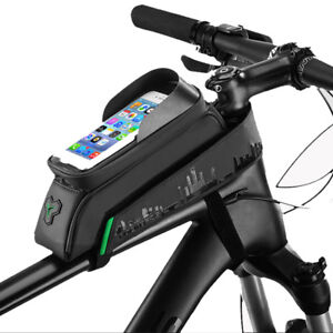 RockBros-Cycling-Bicycle-Waterproof-Frame-Front-Tube-Bag-Touch-Screen-Black