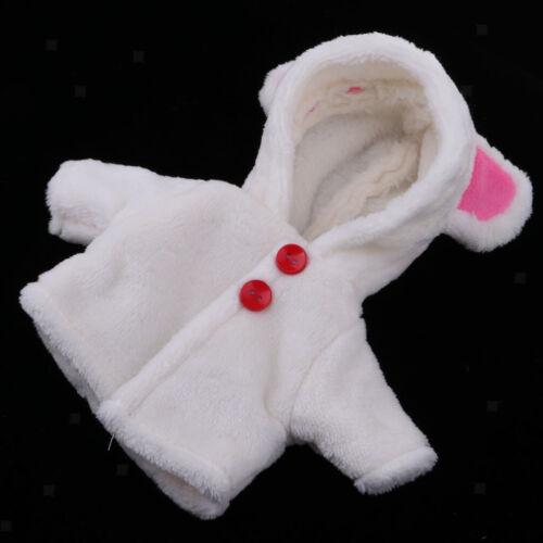 Niedlicher Plüschmantel Casual Outfit für 25cm Mellchan Reborn Baby Girl