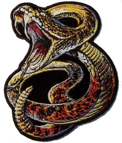 RATTLE SNAKE COILED UP PATCH #8153 hat jacket patches novelty biker SNAKES NEW