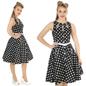VOODOO-VIXEN-BLACK-WHITE-DAISY-ROCKABILLY-VINTAGE-DRESS-ALTERNATIVE-SIZE-MEDIUM