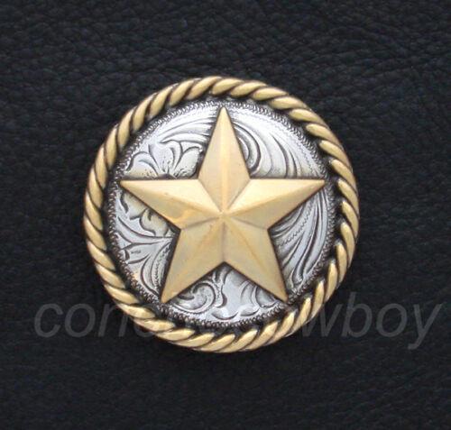 WESTERN HORSE HAEDSTALL SADDLE TACK ANTIQUE ROPE EDGE GOLD STAR CONCHO SCREWBACK
