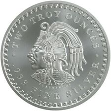 Aztec Calendar 5 oz Silver Round Cuauhtemoc ENCAPSULATED! Aztec Warrior