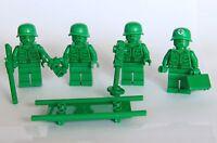 Lego® Toy Story™ Minifig - Green Army Man Lot - Infantry Medic Intelligence