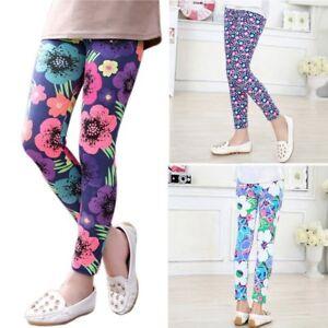 9d08683ea1e 2-14Y Baby Kids Girls Leggings Pants Flower Floral Printed Elastic ...