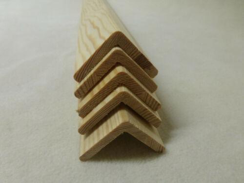 B 1Stk 100cm Winkelleiste Kiefer 42x42mm Winkel Eckschutz Holzleiste
