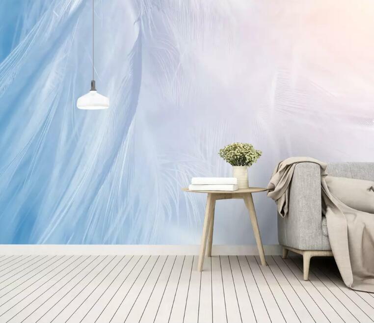 3D Fantasiefeder M2130 Tapete Wandbild Selbstklebend Abnehmbare Aufkleber Amy