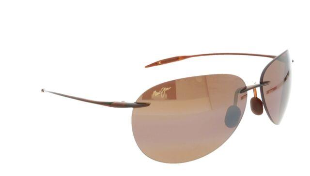 Sugar Beach MAUI JIM Polarised Sunglasses + Case H 421 26 Rootbeer / Bronze