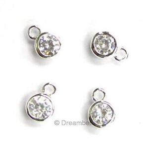 4x-Sterling-Silver-Round-Cz-Dangle-Charm-Pendant-5-5mm-SCP418W