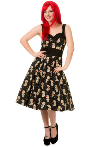 """Banned Voodoo Dolls /""""Distractions/"""" Midi Voodoo Pin Doll Goth Emo Size Dress 8-16"""