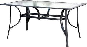 IB-Style® JAMAICA Gartentisch ALU Glastisch 2 Größen Silber