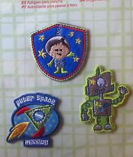 Embleme zum Aufbügeln Figuren Bügelbilder Applikationen Weltraum-Zukunft
