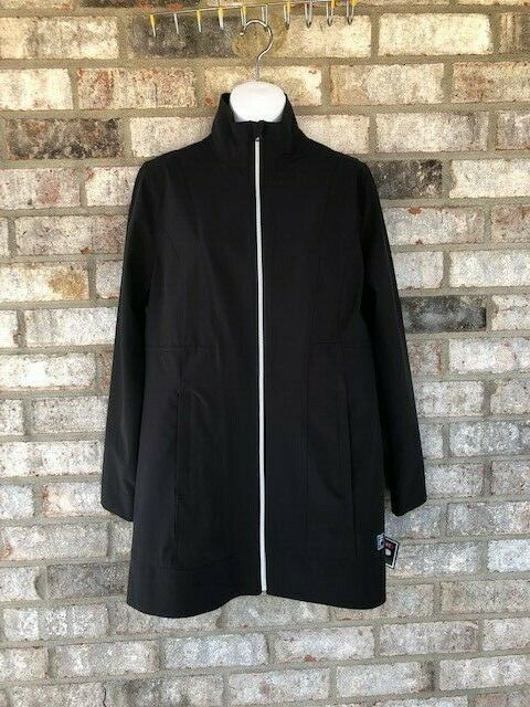 Methodical Fila Sport Jacket Womens Zip Water Resistant Black Small Less Expensive