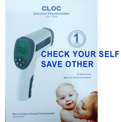 CLOC Non-Contact Infared Body and Object Thermometer Result within 1 Second