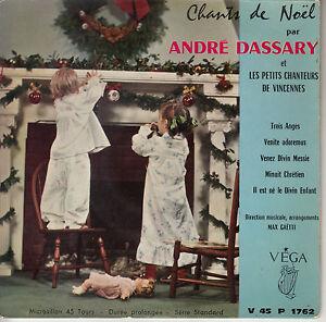 45TRS-VINYL-7-039-039-FRENCH-EP-VEGA-ANDRE-DASSARY-CHANTS-DE-NOEL