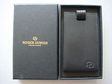 Roger Dubuis Luxury Black Leather Luggage Tag in Gift Box