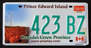 Canada-034-PRINCE-EDWARD-ISLAND-WINDMILL-GREEN-PROVINCE-PEI-Graphic-License-Plate