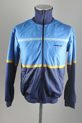 Abile Adidas Vintage Uomo 80er 80s Giacca Track Jacket Blu Training Giacca Taglia 48 Aj6-mostra Il Titolo Originale