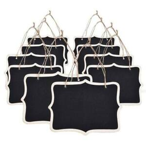 10pcs-Mini-Chalkboards-Signs-Hanging-Blackboard-Rectangle-Message-Board-Dou-L4P7