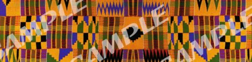 Edible Kente Cloth pattern Cake Strips sheets Sugar wrap topper African frosting